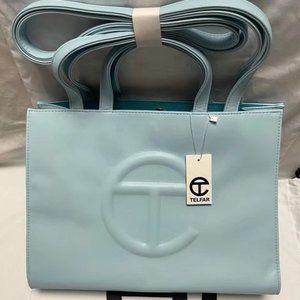 Telfar Medium Light Blue Shopping Bag